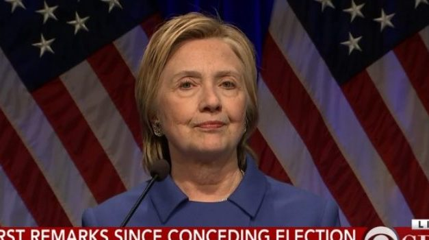 HILLARY LOOKS IN BAD SHAPE SINCE CONCESSION SPEECH