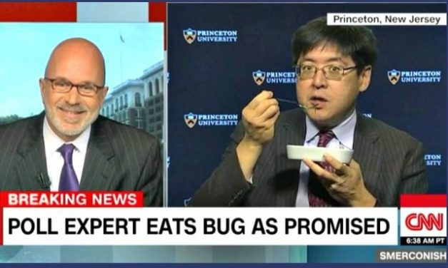 Princeton Polling Expert Who Called Election Wrong Eats a Bug on CNN to Honor Promise