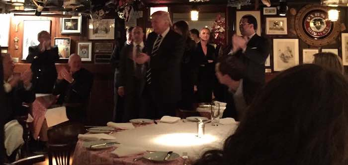 "Trump Goes Out to Dinner – Media Attacks ""Lack of Transparency"" for Not Inviting Them"