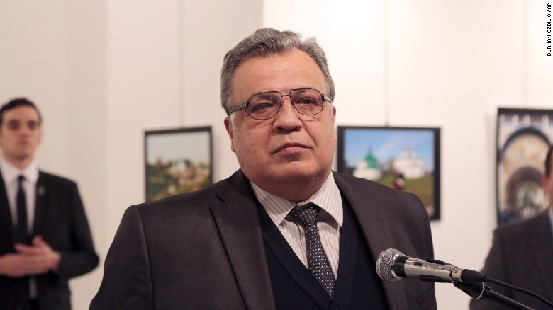 Russia's ambassador to Turkey assassinated in Ankara