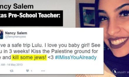 Texas-Muslim Pre-School Teacher Removed For Tweeting 'Kill Some Jews'