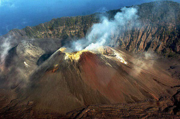 India's Barren Island volcano active again
