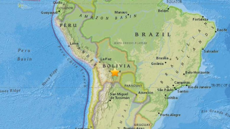 Powerful Magnitude 6.5 earthquake strikes Bolivia
