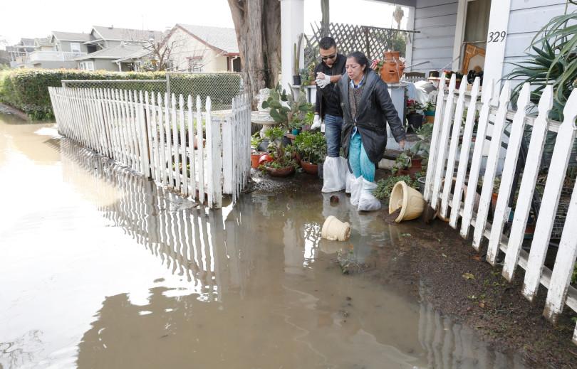 Aftermath of flooding San Jose