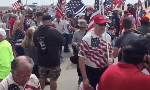 Rally for Trump, Law Enforcement Meets Violent Anti-Trump Protesters in California