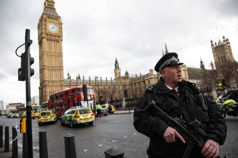 Shots fired at UK Parliament; officer stabbed and assailant shot