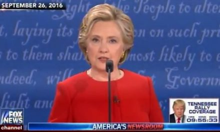 Flashback: Hillary Clinton Lies about Trump's Tax Returns at First Debate (Video)