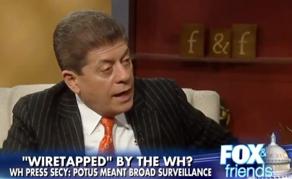Judge Napolitano: Obama Went to British Intelligence to Spy on Trump (VIDEO)