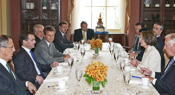 FLASHBACK: Nancy Pelosi Dines With Russian President Medvedev