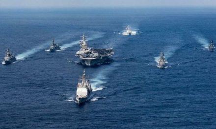 USS Carl Vinson Steams Toward North Korea