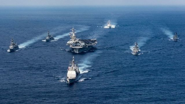 USS Carl Vinson Steams Toward North Korea