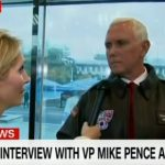 Mike Pence Wins Staredown with CNN #VeryFakeNews Reporter (Video)