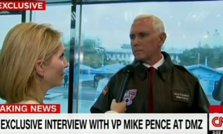 Mike Pence Wins Staredown with CNN #VeryFakeNews Reporter (Video)