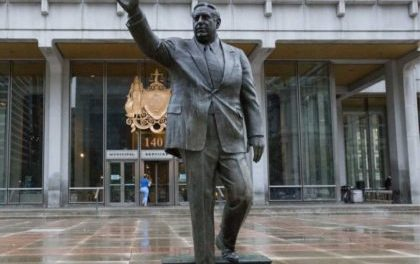 Frmr Philadelphia Mayor Frank Rizzo's Statue Spray-Painted With 'Black Power'
