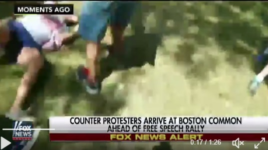 (VIDEO) Antifa Attacks Woman Holding American Flag in Boston
