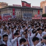 'Death to Trump' North Korea stages mass rally hailing Kim Jong-un's threat to nuke US