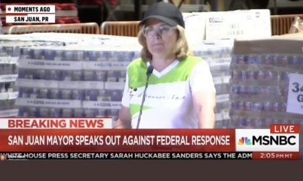 San Juan Mayor to Liberal Media: We Are Getting No Help From Trump – As She Stands In Front of Pallets of Aid