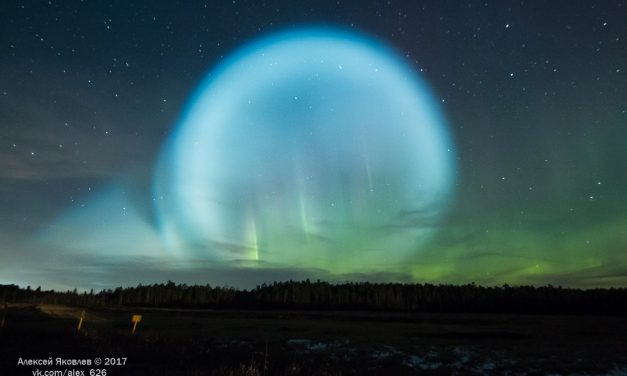 Unusual glow in auroral sky after Russia fires a nuclear ballistic missile