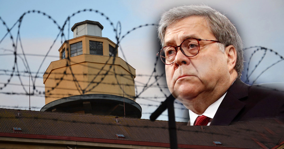 BOMB SHELL Interview on FOX tonight with AG Bill Barr, as he sits in front of a prison with barbed wire! Is it a message to the DEEP STATE?