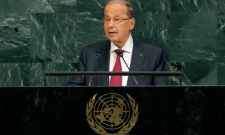 LEBANON'S AOUN SAYS ISRAELI DRONE STRIKES LIKE 'A DECLARATION OF WAR'