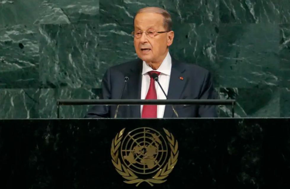 LEBANON'S AOUN SAYS ISRAELI DRONE STRIKES LIKE 'A DECLARATION OF WAR'