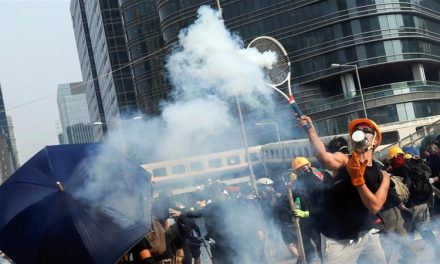 Hong Kong protests turn violent after two-week period of relative calmness