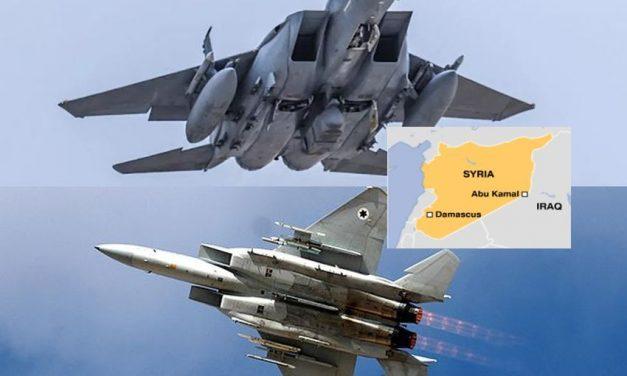 First Israeli-Saudi air force collaboration for demolishing Iran's Abu Kamal complex #israel #Saudiarabia #Iran #Syria #Saudi #attack #drone #Trump #Army