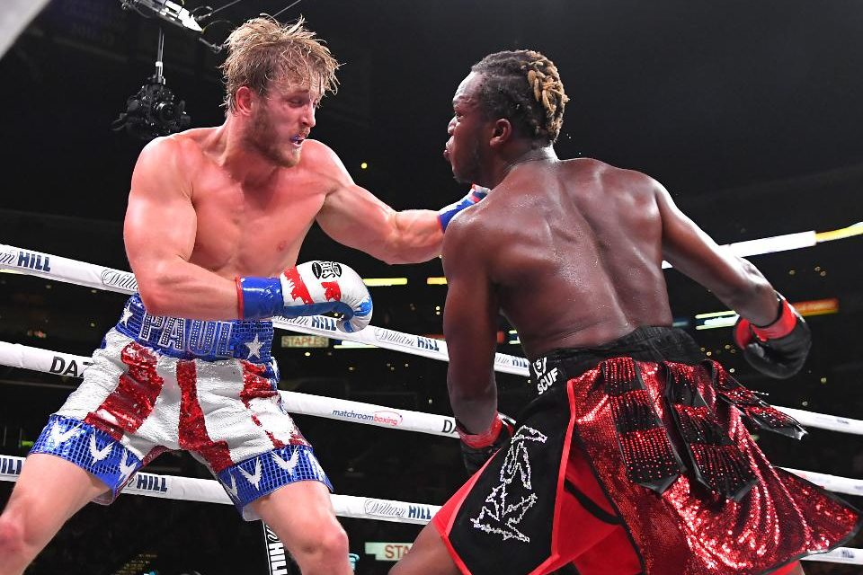 Social media Grudge match – KSI BEATS LOGAN PAUL VIA SPLIT DECISION AT THE STAPLES CENTER IN LOS ANGELES.
