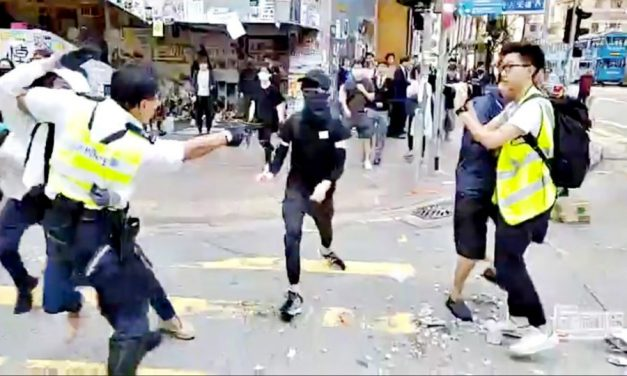 Hong Kong protester shot at close range, counter protester set on fire in latest escalation of violence