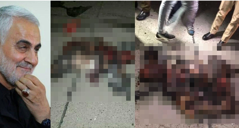 WARNING GRAPHIC & GRUESOME PHOTOS SHOW CHARRED REMAINS OF TOP IRANIAN LEADER QASEM SOLEIMANI