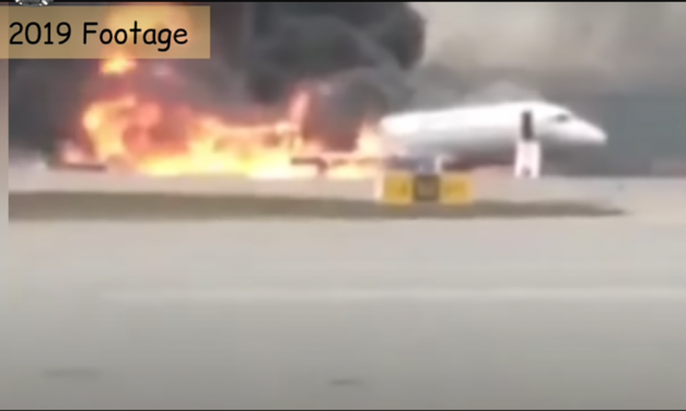 Horrifying Footage SHOWS JET SKIDDING ON RUNWAY ENGULFED IN 100-Ft FLAMES BEFORE PASSENGERS FLEE INFERNO THAT KILLED 41