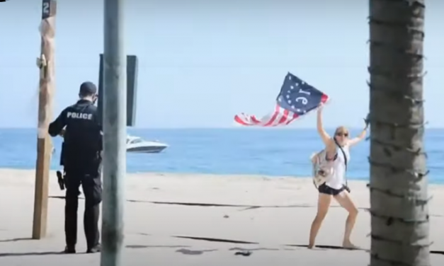 WATCH: Citizens Swarm Cops Arresting Woman for Being On Beach — Force Them to Stand Down