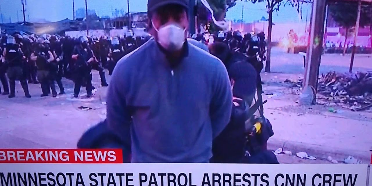 A CNN crew has been arrested while covering Minneapolis protests