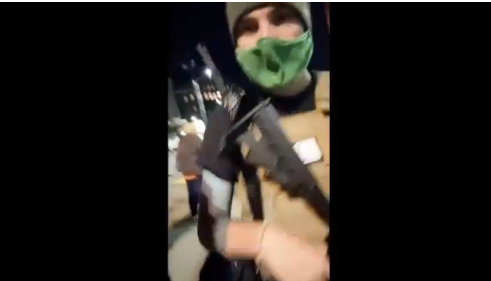 More shots fired in CHAZ / CHOP zone!  Armed BLM militants try and take footage from Journalist!!