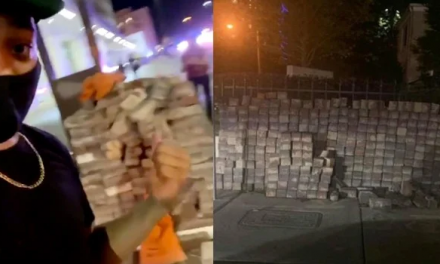 "ANTIFA being supplied by George Soros and the ""deep state"" with pallets of BRICKS to riot with!!"