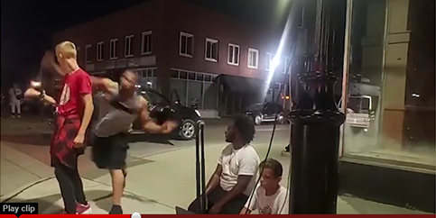 Another example of Racist Hate against White people. White kid sucker punched by proud racist